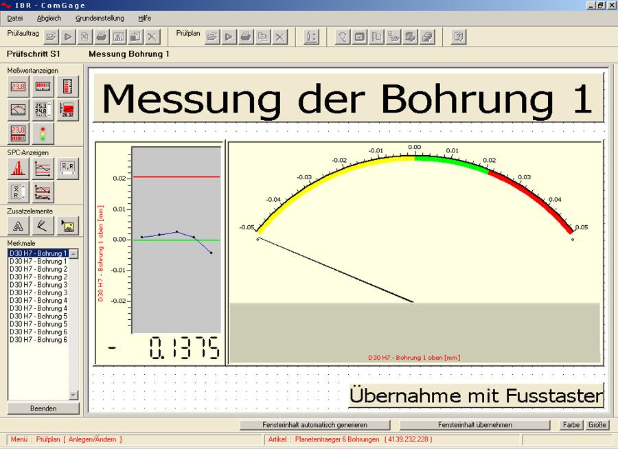 Software de adquisición y tratamiento de datos ComGage